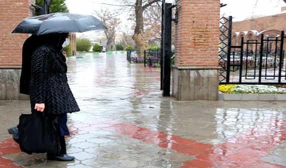 رگبار باران و تگرگ آذربایجانشرقی را فرا میگیرد