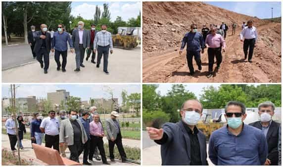 بازدید شهردار تبریز از پارکهای در دست اجرای کودک، ترافیک و حیدربابا