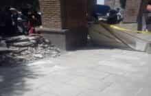 ترمیم سنگفرش های تخریب شده در کوچه انجمن