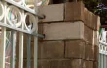 تداوم مرمت پایه های ۱۵ و ۱۶ دیوار عمارت ساعت