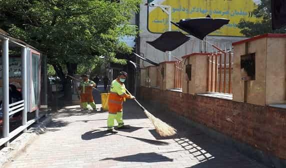 تداوم طرح پاکسازی محلات شهر در خیابان دانشسرا
